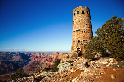 Living in Northern Arizona | landmark tower at Grand Canyon