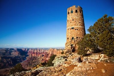Living in Northern Arizona   landmark tower at Grand Canyon