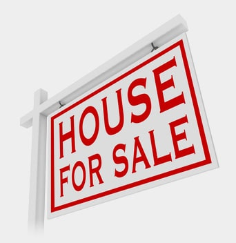 Real Estate Agent's House for Sale Sign