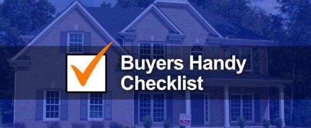Buyers Handy Checklist