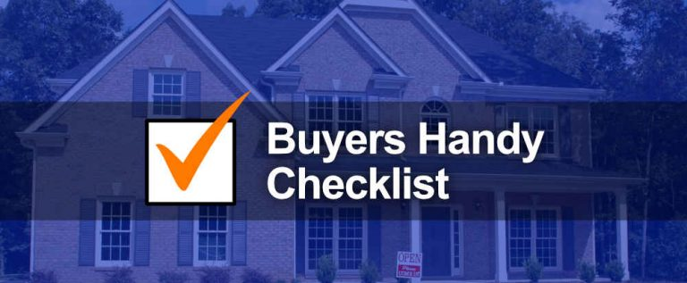 real estate buyers checklist